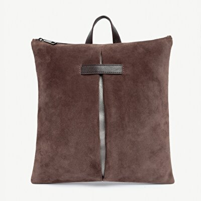 Backpack With Suede Leather