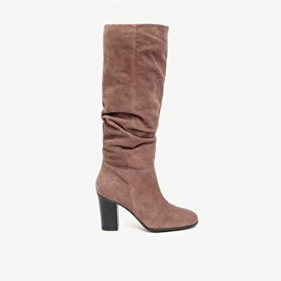 Suede Leather High Heel Long Boot