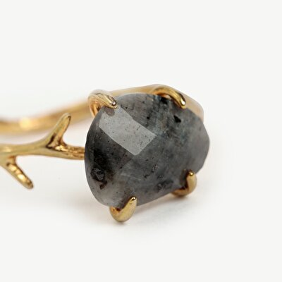 Ring With Labrodorite Stone