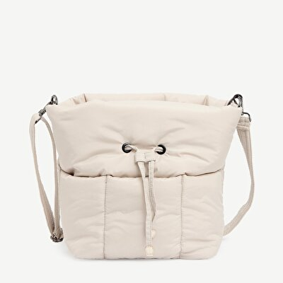 Fabric Bucket Bag With Two Straps